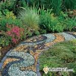 Возведение садовых тропинок на дачном участке