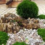 Оформление сада с применением натурального камня