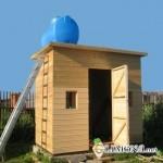 Летний душ на даче как элемент дизайна