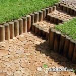 Создаём деревянные дорожки для сада своими руками