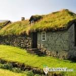 Загородный дом, встроенный в ландшафт местности