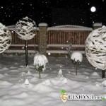 Как украсить дачный участок зимой