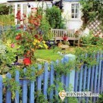 Деревенский стиль в саду