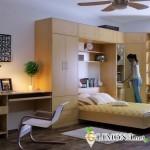 Спальня в небольшом помещении