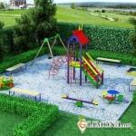 Детская зона в дизайне участка
