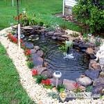 Как украсить пруд на даче