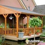 Как построить террасу на даче своими руками