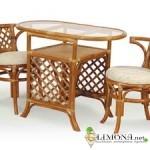 Интерьер с мебелью из ротанга