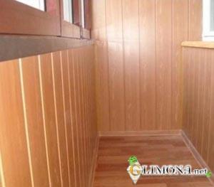 балкон отделанный мдф-панелями