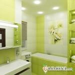 Дизайн ванной комнаты в зелёных тонах
