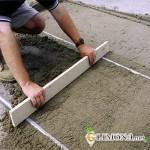 Подготовка подушки для укладки тротуарной плитки