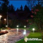 Освещение в саду должно служить безопасности