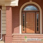 Стильные и надежные входные деревянные двери